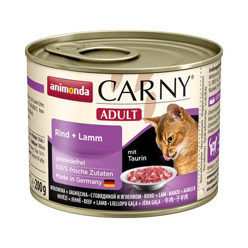 Animonda Carny Adult - Boîte - Bœuf  et agneau - 6 x 200 g