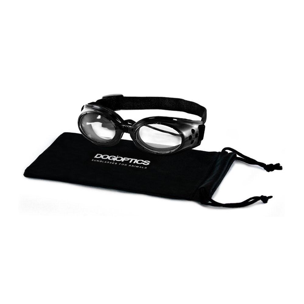 Dogoptics Hundesonnenbrille Ibiza - Black Frame & Clear Lens