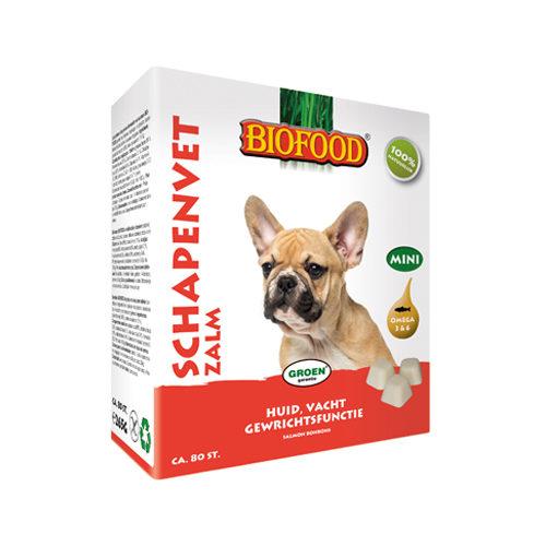 Biofood Schaffett Mini - Lachs - 80 Stück