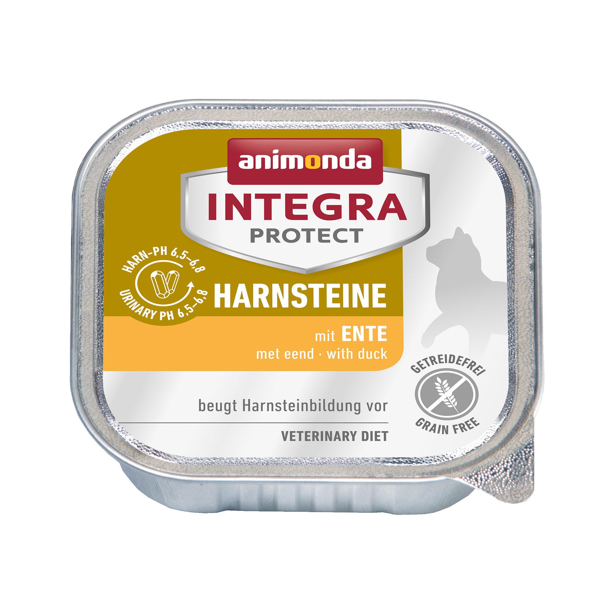 Animonda Integra Protect Harnsteine Katzenfutter - Schälchen - Ente - 16 x 100 g