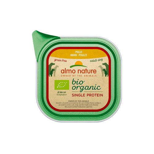 Almo Nature Bio Organic Single Protein - Poulet- Barquette - 11 x 150 g