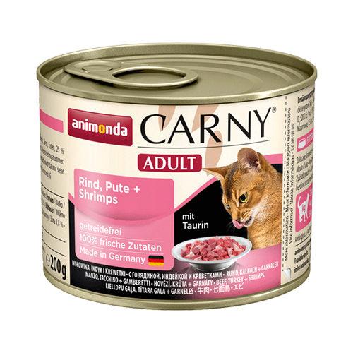 Animonda Carny Adult Katzenfutter - Dosen - Rind, Pute & Garnelen - 6 x 200 g