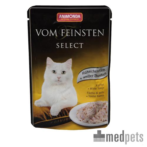Animonda Vom Feinsten Katzenfutter - Frischebeutel - Hühnchenfilet & Weißen Thunfish - 18 x 50 g