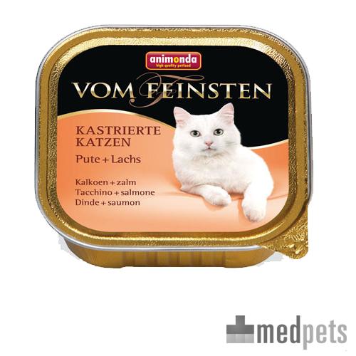 Animonda Vom Feinsten kastrierte Katzenfutter - Schälchen - Pute/Lachs