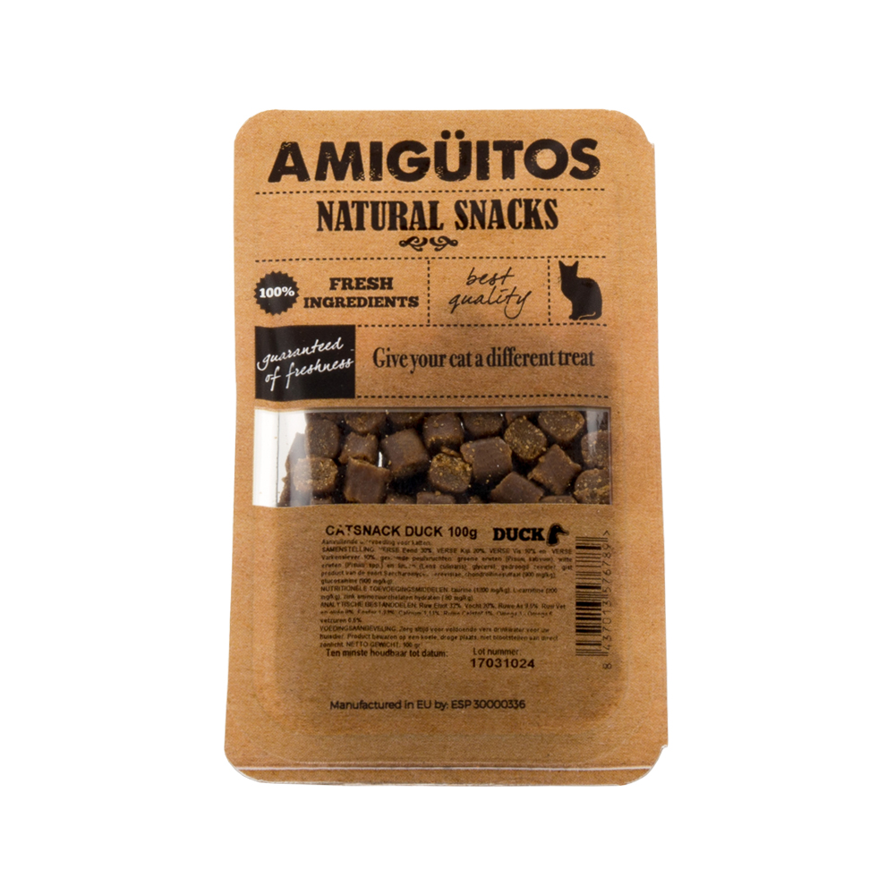 Amigüitos Catsnacks - Canard - 100 g