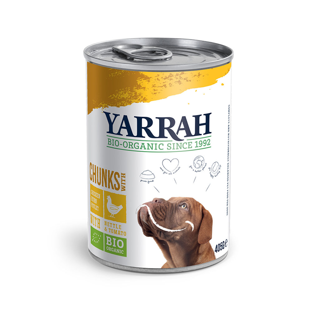 Yarrah Bio Chunks in Sauce - Boîte - Poulet avec ortie & tomate
