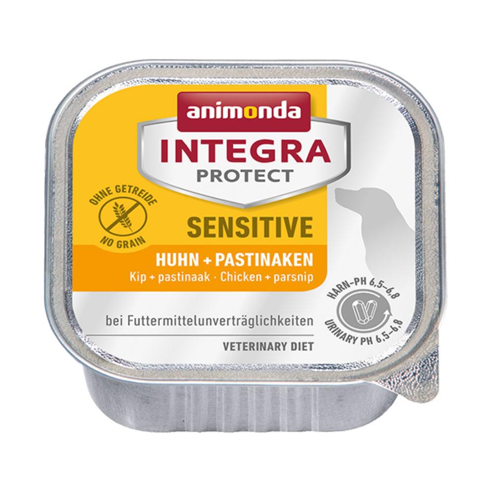 Animonda Integra Protect Sensitive Hundefutter - Schälchen - Huhn & Pastinaken - 11 x 150 g