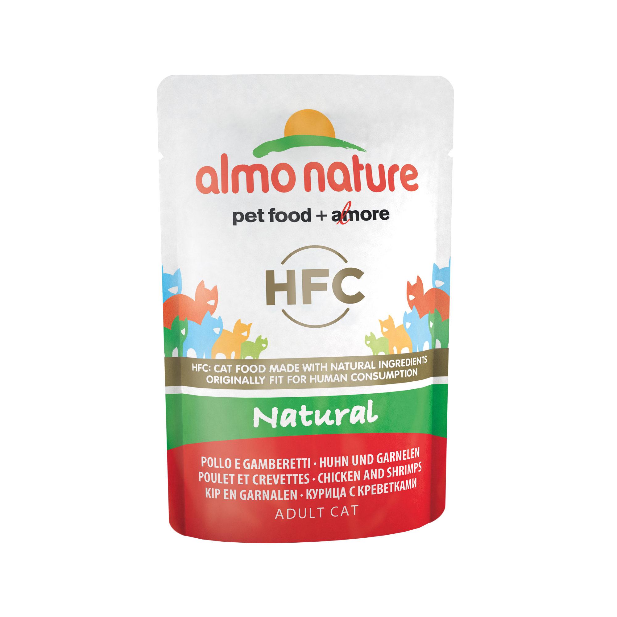 Almo Nature HFC Natural - Poulet et crevette - Boîte - 24 x 55 g