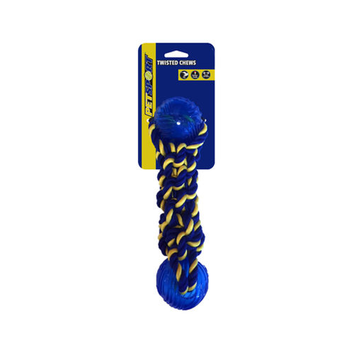 Petsport Cotton Rope Bumper with 2 TPR Balls