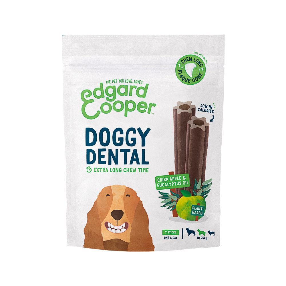 Edgard & Cooper Doggy Dental Medium - Apfel & Eukalyptus