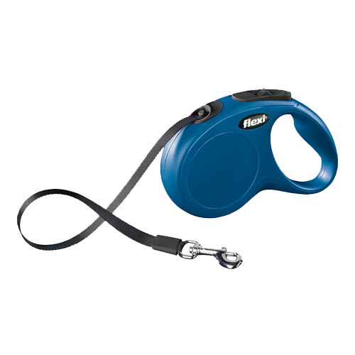 Flexi Gurt-Leine New Classic - Tape Leash - Blau