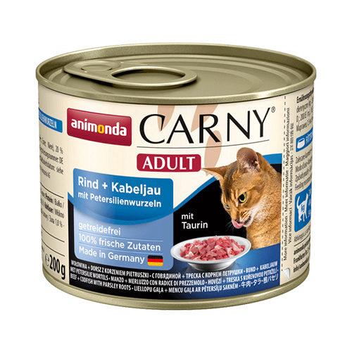 Animonda Carny Adult Katzenfutter - Dosen - Rind, Kabeljau & Petersilie