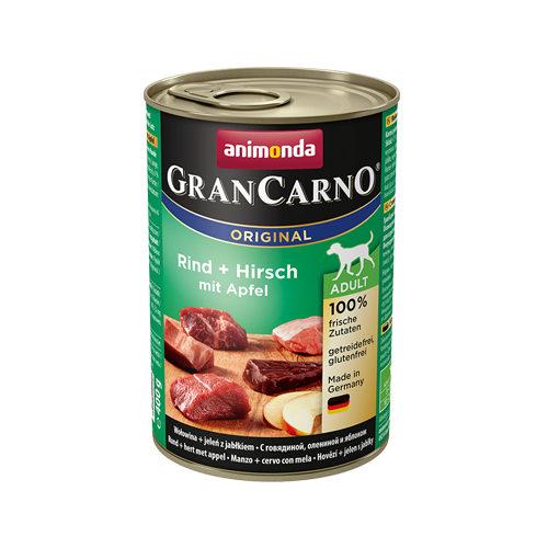 Animonda GranCarno Original Adult Hundefutter - Dosen - Rind, Herz & Apfel - 6 x 400 g