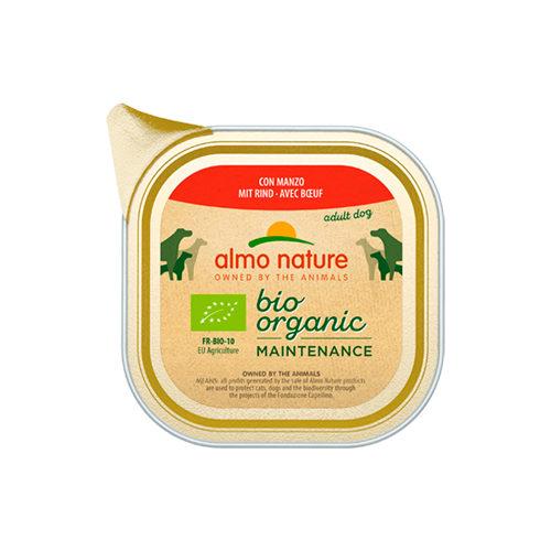 Almo Nature Bio Organic Maintenance Hundefutter - Schälchen - Rind - 32 x 100 g