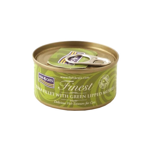 Fish4Cats Finest Katzenfutter - Dosen - Tuna Fillet with Green Lipped Mussel