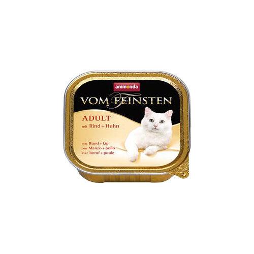 Animonda vom Feinsten Adult Katzenfutter - Schälchen - Rind & Huhn - 32 x 100 g