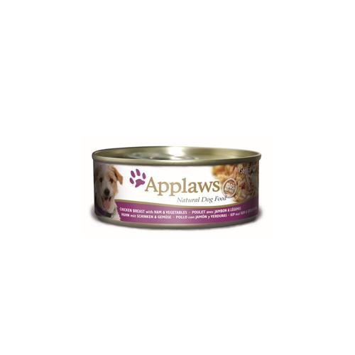 Applaws - Poulet et jambon avec légumes - Boîte - 12 x 156 g
