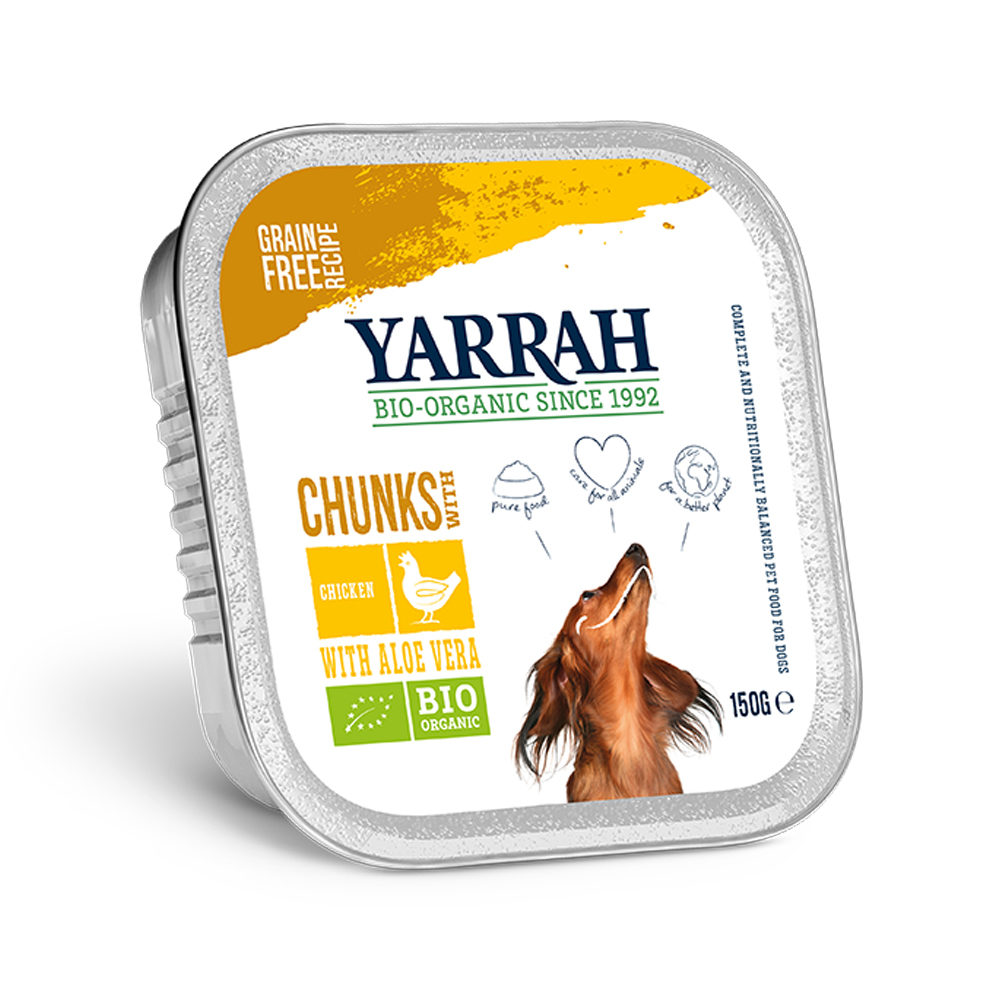 Yarrah Bio Chunks in Sauce - Barquette - Poulet avec aloe vera
