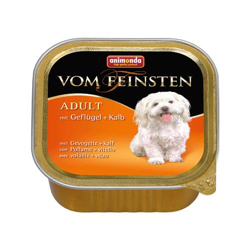 Animonda Vom feinsten Classic Hundefutter - Schälchen - Geflugel / Kalb - 22 x 150 g