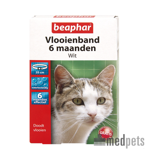 Beaphar Flohhalsband Katze 6 Monate - Weiß