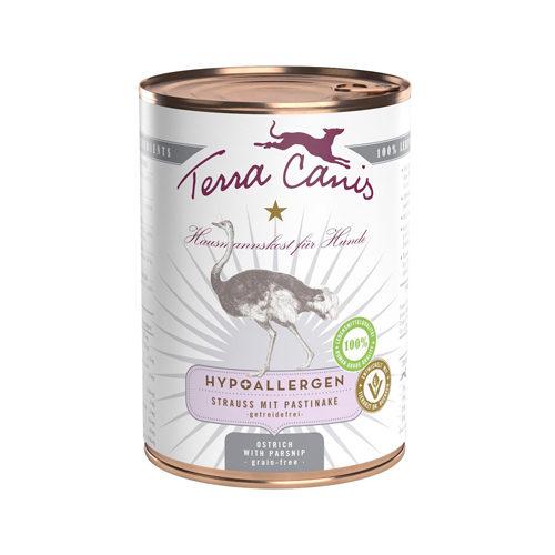 Terra Canis Hypoallergen Hundefutter - Dosen - Strauß mit Pastinake