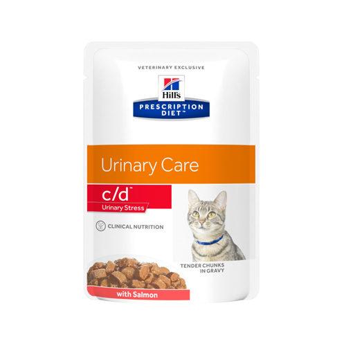 Hill's Prescription Diet c/d Urinary Stress Katzenfutter - Frischebeutel - Lachs
