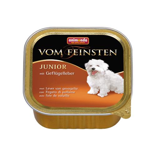 Animonda vom Feinsten Junior Hundefutter - Schälchen - Geflügelleber - 22 x 150 g