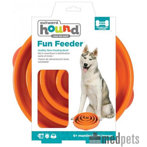 Outward Hound Fun Feeder - Orange