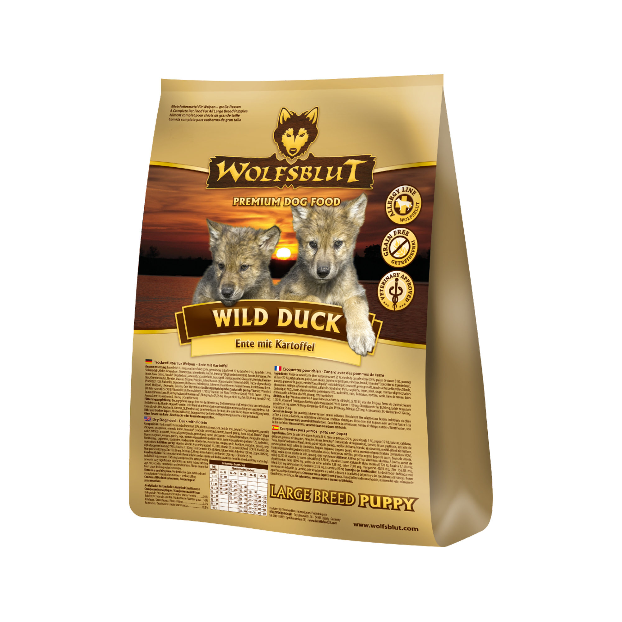 Wolfsblut Wild Duck Puppy Large Breed Hundefutter