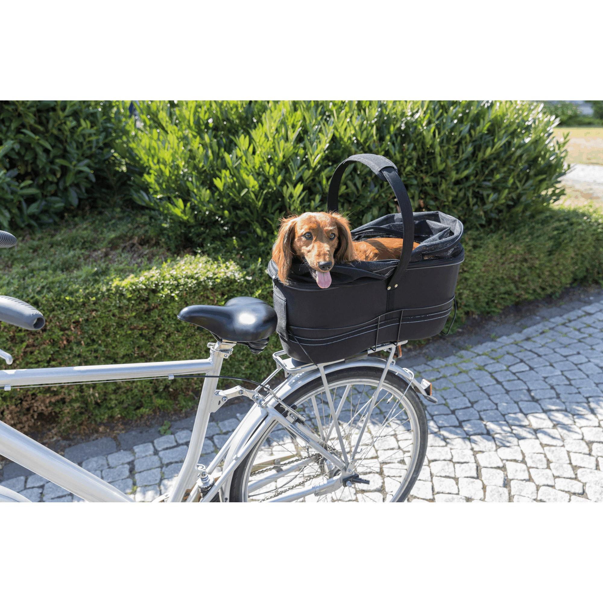 Trixie Panier à vélo Long pour largeur Porte-bagages