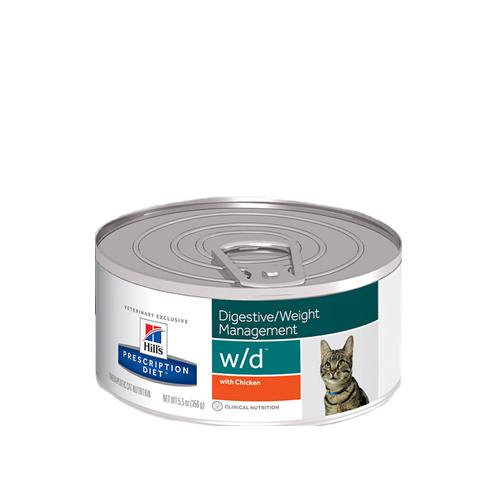 Hill's Prescription Diet w/d Low Fat/Diabetes/Colitis Katzenfutter - Dosen