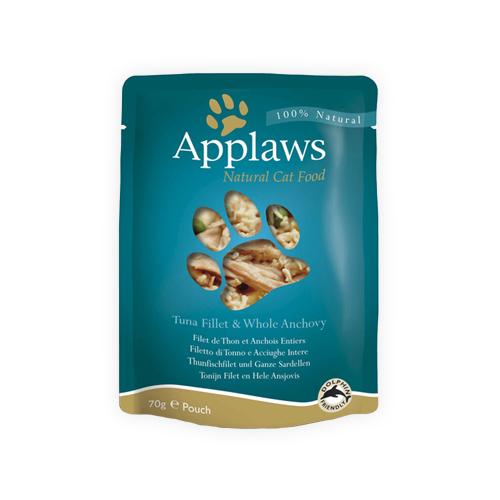 Applaws in Broth Katzenfutter - Frischebeutel - Fillet & Anchovy - 12 x 70 g