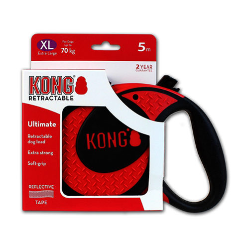 KONG Retractable Leash Ultimate - Rouge