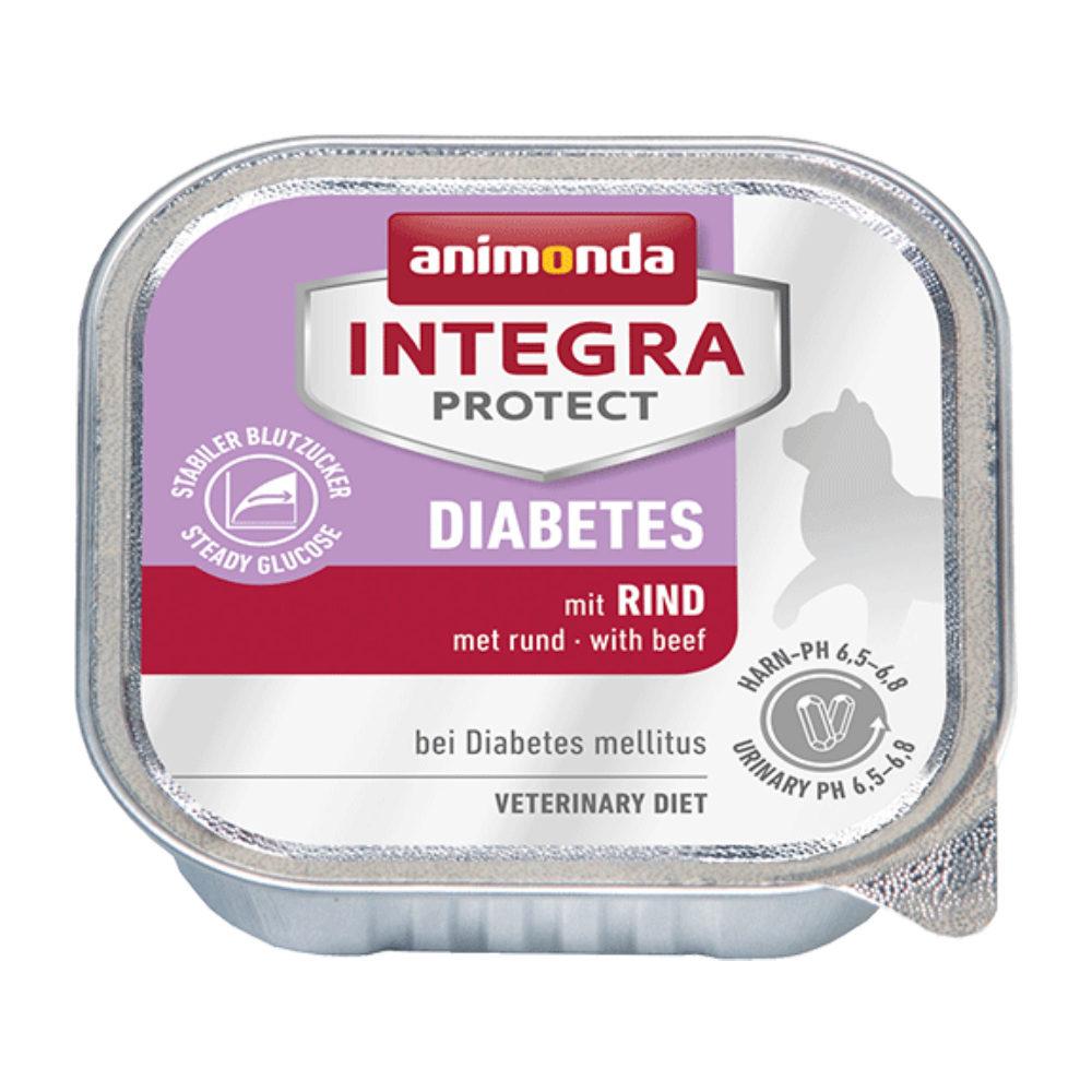 Animonda Integra Protect Diabetes Katzenfutter - Schälchen - Rind - 16 x 100 g