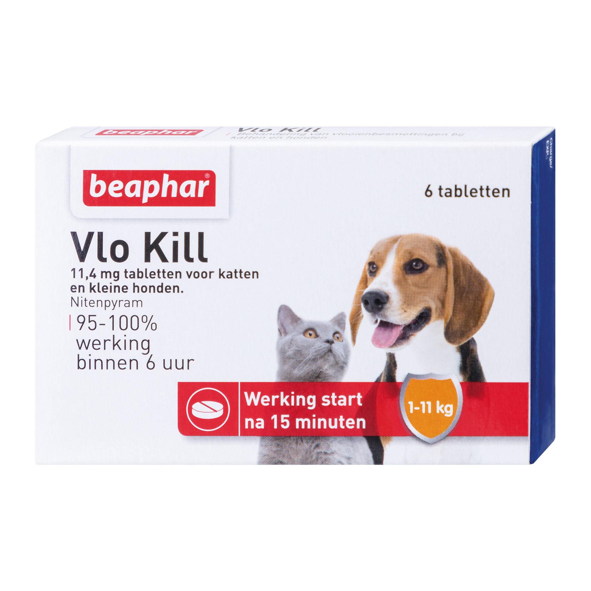 Beaphar Floh Kill+ - Katze & Hund bis 11 kg - 6 Tabletten