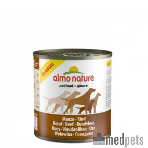 Almo Nature Classic Adult Hundefutter - Dosen - Rind - 12 x 290 g