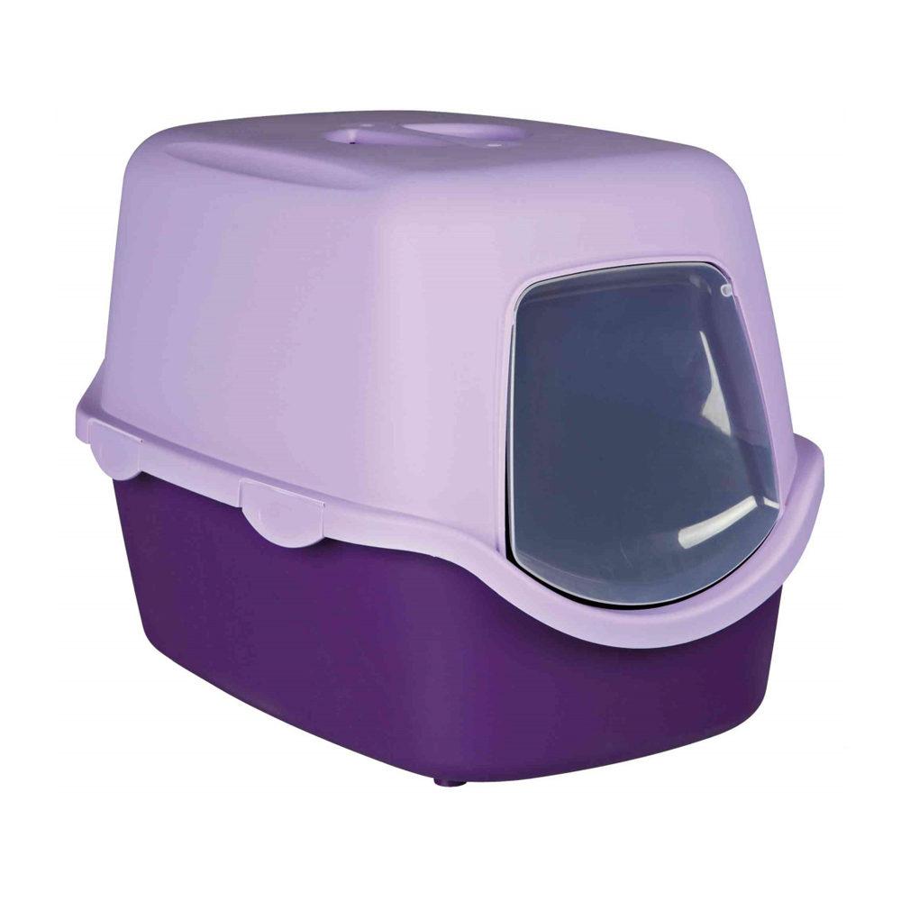Litière pour chat Vico avec Couvercle - Lila / violet clair