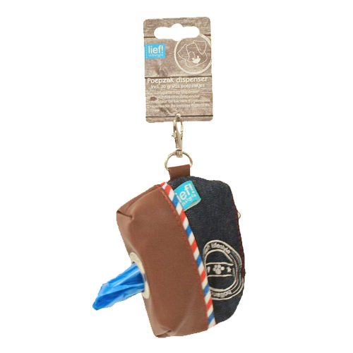 lief! - Distributeur de sacs à déjection pour chien - Unisex - Bleu