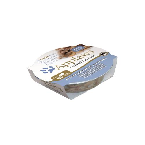 Applaws Pots - Filet de thon et crevette- Barquette - 10 x 60 g