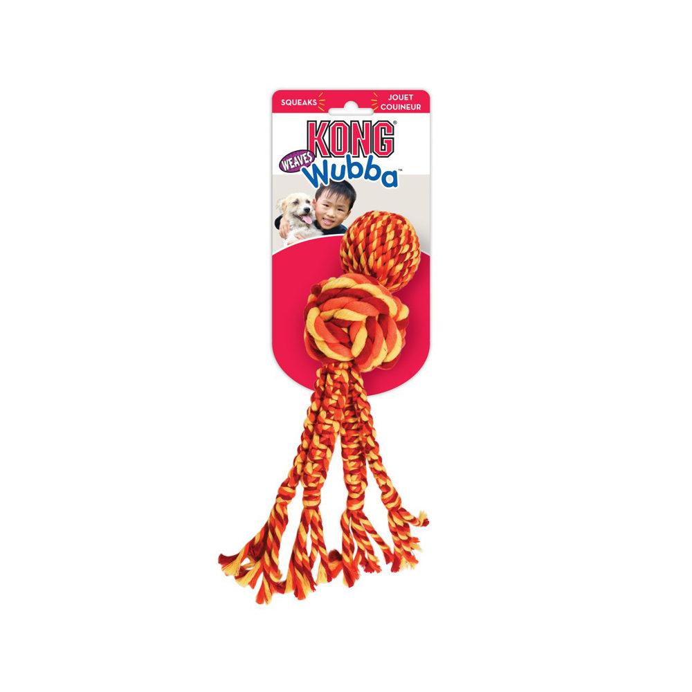 KONG Wubba Weaves - Jouet avec corde