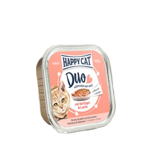 Happy Cat Duo Menu - Barquette - Volaille et saumon