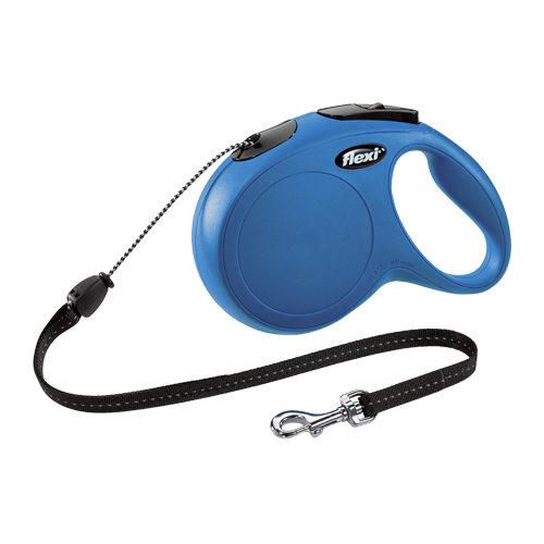 Flexi Classic - Laisse enrouleur - Cord Leash - Bleu