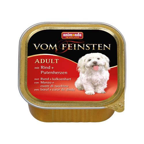 Animonda Vom feinsten Classic Hundefutter - Schälchen - Rind / Putenherzen - 22 x 150 g