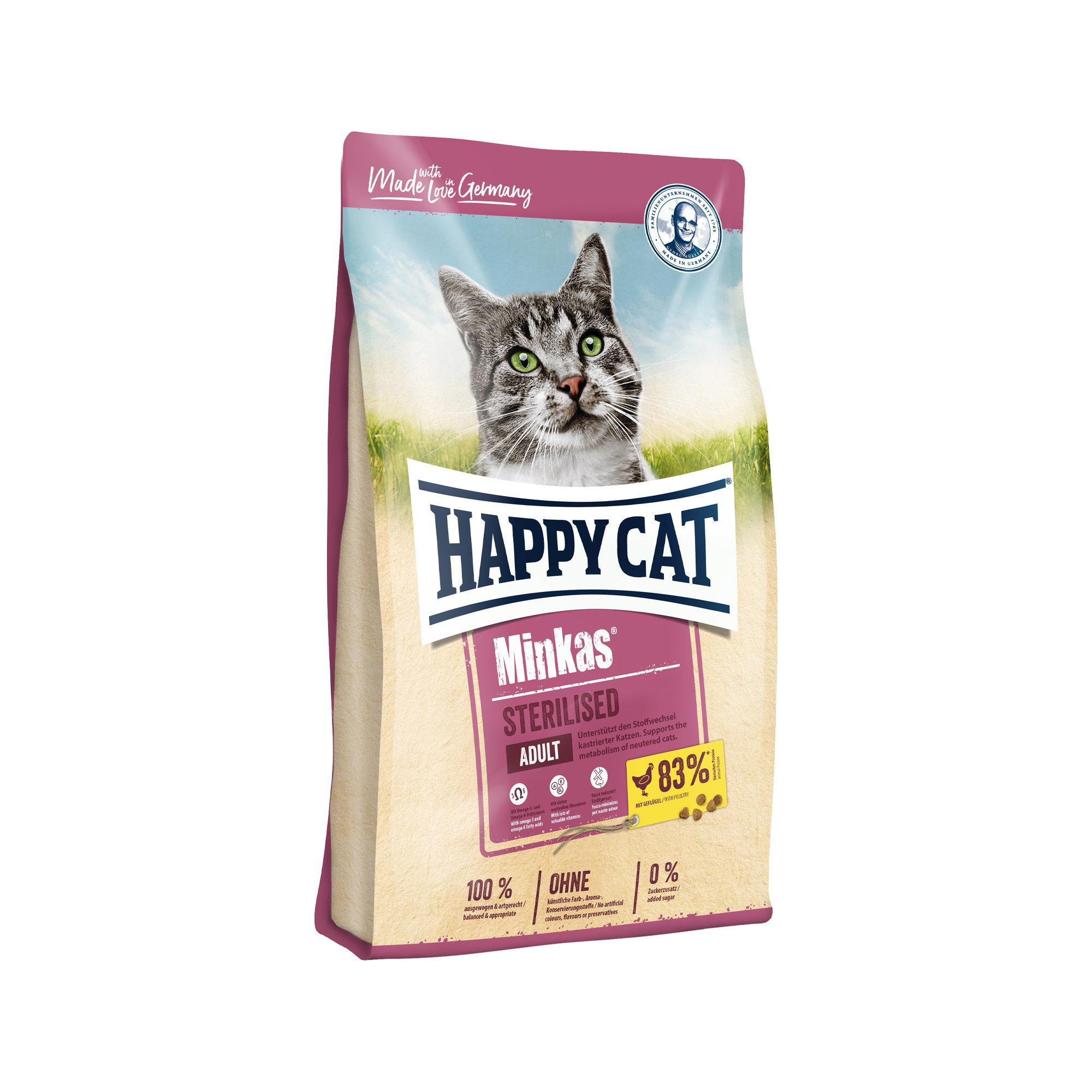 Happy Cat Minkas Adult Sterilised Katzenfutter - Geflügel