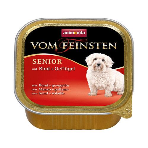 Animonda Vom Feinsten Senior Hundefutter - Schälchen - Rind & Huhn - 22 x 150 g