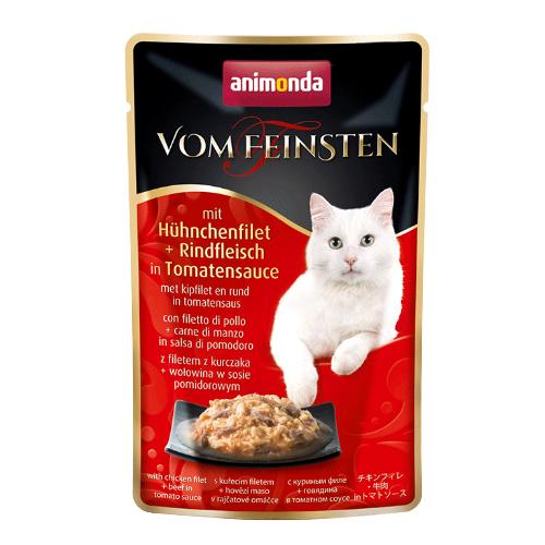 Animonda Vom Feinsten Katzenfutter - Frischebeutel - Hühnchenfilet & Rindfleisch