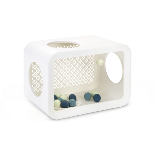 Beeztees Cat Cubes Play - Angora White