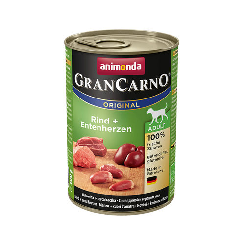 Animonda GranCarno Original Adult Hundefutter - Dosen - Rind & Ente - 6 x 400 g