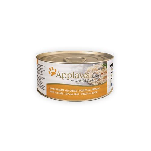 Applaws - Poitrine de poulet et fromage - Boîte - 24 x 70 g