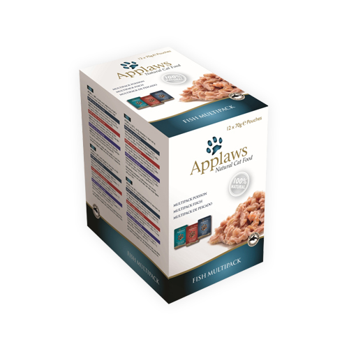 Applaws Multipack Katzenfutter - Frischebeutel - Fish in Broth
